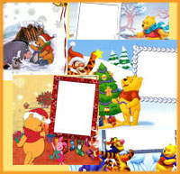 winnie the pooh free photography collages online
